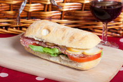 Salami sandwich Stock Photos