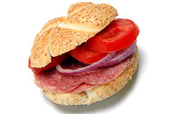 Salami sandwich Royalty Free Stock Image