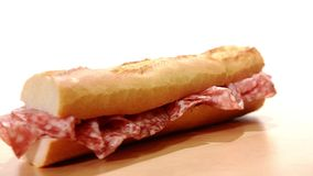 Salami sandwich stock video