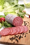 Salami sausage Stock Photo