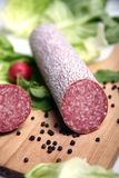 Salami sausage royalty free stock photos