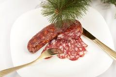 Salami sausage Royalty Free Stock Image