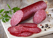 Salami sausage Stock Photos