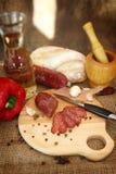 Salami sausage Royalty Free Stock Photo