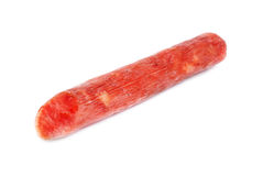Salami sausage  isolated on  white background Stock Images