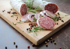 Salami sausage Royalty Free Stock Photography