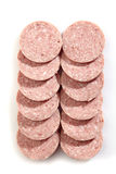 Salami sausage slices Stock Images
