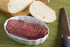 Salami sausage Royalty Free Stock Images