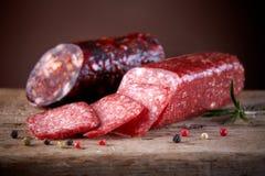 Salami sausages Stock Image