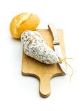 Salami savoureux avec le moule blanc Photos libres de droits