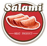Salami sign with text Royalty Free Stock Image