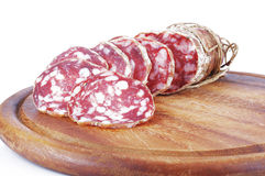 Salami sliced Stock Photos