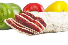 Salami sliced Royalty Free Stock Photos