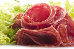 Salami sliced Royalty Free Stock Photography