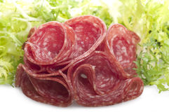 Salami sliced Stock Image
