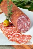 Salami sliced Royalty Free Stock Image