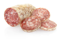 Salami and slices Stock Images