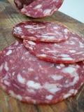 Salami slices Stock Image