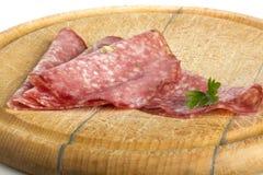 Salami slices Royalty Free Stock Photo