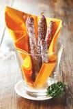 Salami sticks in a glass Stock Photo