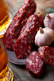 Salami still life Stock Photos