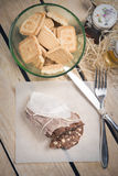 Salami typical Italian sweet chocolate Stock Photo