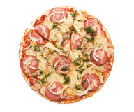 Salami and Vegetable Pizza Royalty Free Stock Photography