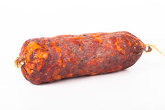 Salami on a white background Stock Image