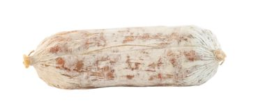 Salami in white background Stock Photography
