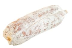 Salami in white background Royalty Free Stock Image