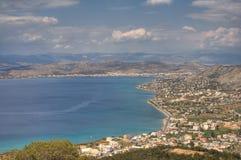 Salamina Island. In Greece panorama stock photos