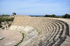 Salamis amphitheater, Cyprus. Salamis ruins and amphitheater in north Cyprus Royalty Free Stock Photos