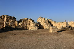 Salamis (Ancient Greek: Σαλαμίς) is an ancient Greek city-state on the east coast of Cyprus. A picture of the Salamis (Ancient Greek royalty free stock photography