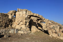 Salamis (Ancient Greek: Σαλαμίς) is an ancient Greek city-state on the east coast of Cyprus. A picture of the Salamis (Ancient Greek royalty free stock photo