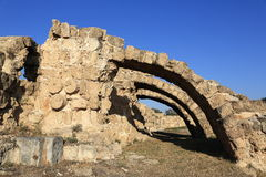 Salamis (Ancient Greek: Σαλαμίς) is an ancient Greek city-state on the east coast of Cyprus Royalty Free Stock Photo