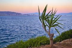 Salamis island greek sunset royalty free stock photo