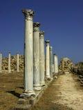 Salamis ruins. Pillars at the ruins of Salamis, North Cyprus Royalty Free Stock Photos