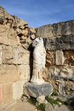 Salamis ruins, Cyprus. Salamis ruins and sculpture in north Cyprus Royalty Free Stock Image