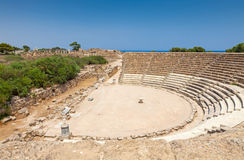 Salamis Ruins. In Northern Cyprus Royalty Free Stock Photography