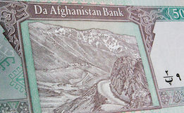 Salang Pass, Hindu Kush, Afghanistan banknote Stock Photography