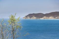 Salango wyspy widok Santa Elena Ekwador Obraz Stock