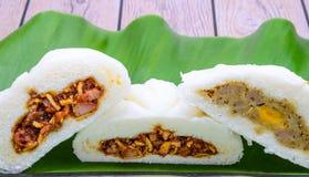 Salapao on Banana Leaf Stock Photo
