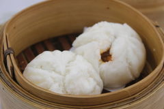Salapao Dimsum. Steamed pork buns, chinese dim sum Royalty Free Stock Images