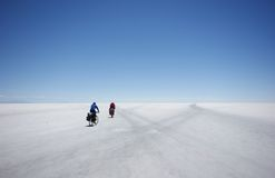 Salar Cyclists Royalty Free Stock Photo