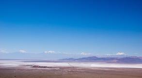 Salar de Atacama in Chile. Salt flats in the Atacama desert in northern Chile Stock Images
