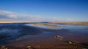 Salar de Atacama i Chile Arkivbilder