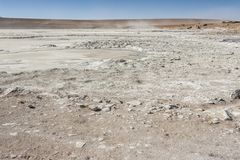 Salar de Chalviri, also known as Salar de Ohalviri, is a salt flat in the heart of Eduardo Avaroa Andean Fauna National Reserve. In the Potosí Department, in Royalty Free Stock Photography