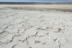 Salar de Chalviri, also known as Salar de Ohalviri, is a salt flat in the heart of Eduardo Avaroa Andean Fauna National Reserve. In the Potosí Department, in Stock Photography