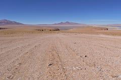 Salar de Tara. Seen from a higher distant viewpoint Stock Photography