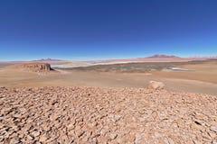 Salar de Tara. Seen from a higher distant viewpoint Stock Photo